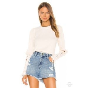 NWT Free People Ivory Thermal Sweater Size Medium